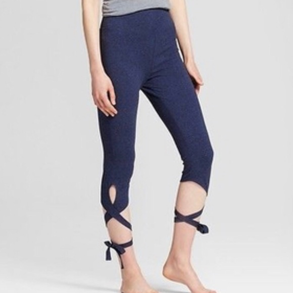 f6ece097e53808 Mossimo Supply Co. Pants | 28 Mossimo Navy Blue Lace Up Leggings ...